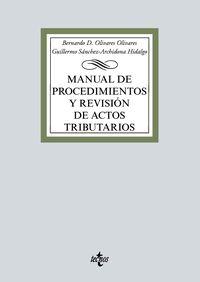 MANUAL DE PROCEDIMIENTOS Y REVISION DE ACTOS TRIBUTARIOS
