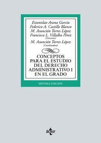 (7 ED) CONCEPTOS PARA EL ESTUDIO DEL DERECHO ADMINISTRATIVO I EN EL GRADO