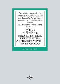 (8 ED) CONCEPTOS PARA EL ESTUDIO DEL DERECHO ADMINISTRATIVO II EN EL GRADO