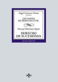 (5 ED) DERECHO DE SUCESIONES - LECCIONES DE DERECHO CIVIL