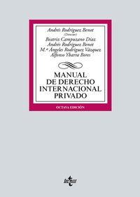 (8 ED) MANUAL DE DERECHO INTERNACIONAL PRIVADO