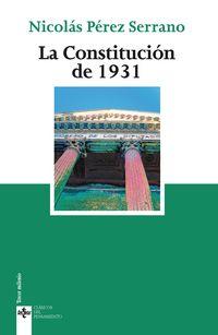 LA CONSTITUCION DE 1931