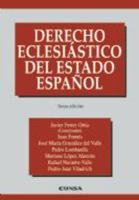 DERECHO ECLESIASTICO DEL ESTADO ESPAÑOL (6ª ED)