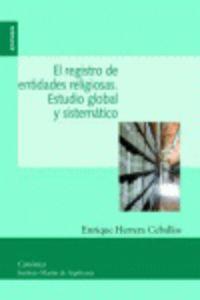 REGISTRO DE ENTIDADES RELIGIOSAS - ESTUDIO GLOBAL Y SISTEMATICO