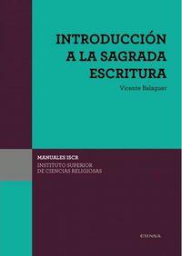 (iscr) Introduccion A La Sagrada Escritura - Vicente Balaguer Beltran