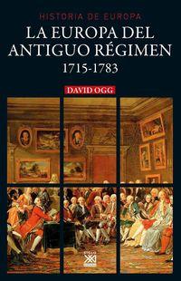 EUROPA DEL ANTIGUO REGIMEN, LA 1715-1783