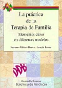 PRACTICA DE LA TERAPIA DE FAMILIA, LA - ELEMENTOS CLAVE EN DIFERENTES MODELOS