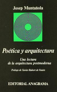 Poetica Y Arquitectura - Josep Muntañola