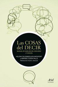 Cosas Del Decir, Las - Manual De Analisis Del Discurso - Helena Calsamiglia / Amparo Tuson