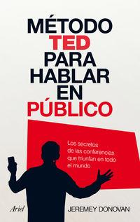 METODO TED PARA HABLAR EN PUBLICO, EL