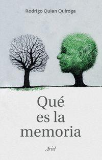 Que Es La Memoria - Rodrigo Quian Quiroga