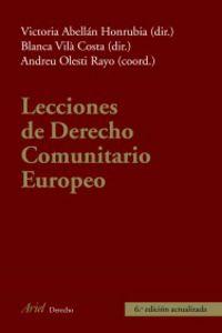 LECCIONES DE DERECHO COMUNITARIO EUROPEO