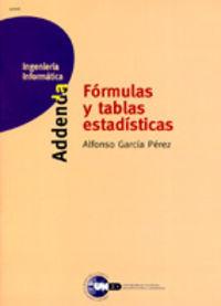 FORMULAS Y TABLAS ESTADISTICAS