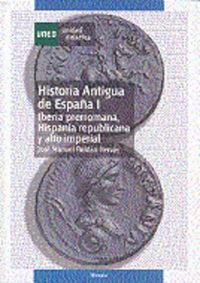 IBERIA PRERROMANA - HISPANIA REPUBLICANA Y ALTO IMPERIAL