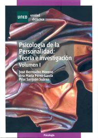 PSICOLOGIA DE LA PERSONALIDAD VOL I - TEORIA E INVESTIGACIO