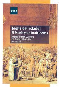 TEORIA DEL ESTADO I - EL ESTADO Y SUS INSTITUCIONES