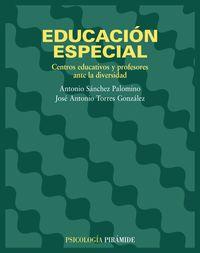 EDUCACION ESPECIAL - CENTROS EDUCATIVO Y PROFESORES ANTE LA DIVERSIDAD