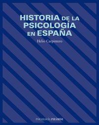 HISTORIA DE LA PSICOLOGIA EN ESPAÑA