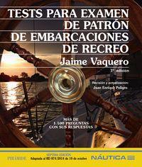 (7ª ED) TESTS PARA EXAMEN DE PATRON DE EMBARCACIONES DE RECREO