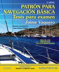 PATRON PARA NAVEGACION BASICA - TESTS PARA EXAMEN