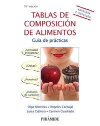 (19 Ed) Tablas De Composicion De Alimentos - Guia De Practicas - Olga Moreiras Tuni / Angeles Carbajal / [ET AL. ]