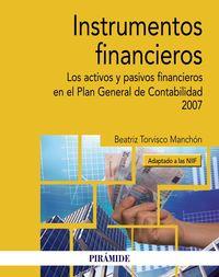Instrumentos Financieros - Beatriz Torvisco Manchon