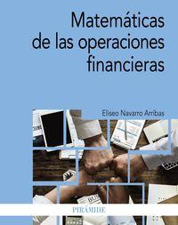 MATEMATICAS DE LAS OPERACIONES FINANCIERAS