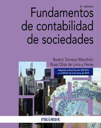 (5 Ed) Fundamentos De Contabilidad De Sociedades - Beatriz Torvisco Manchon / Rosa Olias De Lima Heras