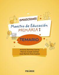 TEMARIO - OPOSICIONES A MAESTRO DE EDUCACION PRIMARIA I