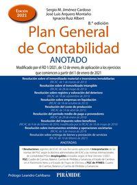 (8 ED) PLAN GENERAL DE CONTABILIDAD ANOTADO - MODIFICADO POR EL RD 1*2021, DE 12 DE ENERO, DE APLICACION A LOS EJERCICIOS QUE COMIENCEN A PARTIR DEL 1 DE ENERO DE 2021