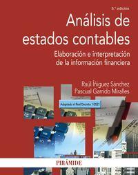 (5 ED) ANALISIS DE ESTADOS CONTABLES - ELABORACION E INTERPRETACION DE LA INFORMACION FINANCIERA