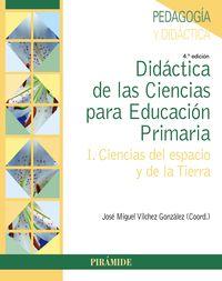 DIDACTICA DE LAS CIENCIAS PARA EDUCACION PRIMARIA I - CIENCIAS DEL ESPACIO Y DE LA TIERRA