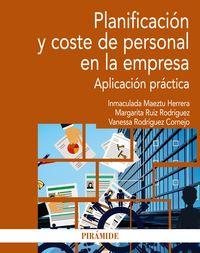 PLANIFICACION Y COSTE DE PERSONAL EN LA EMPRESA - APLICACION PRACTICA