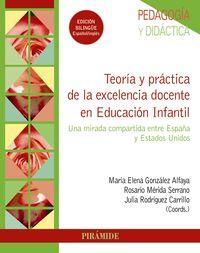 TEORIA Y PRACTICA DE LA EXCELENCIA DOCENTE EN EDUCACION INFANTIL - UNA MIRADA COMPARTIDA ENTRE ESPAÑA Y ESTADOS UNIDOS
