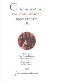 CARTES DE POBLAMENT VALENCIANES MODERNES II (XVI-XVIII)