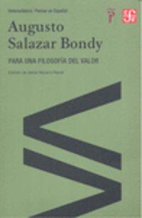Para Una Filosofia Del Valor - Augusto Salazar Bondy