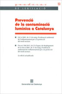 (2 ED) PREVENCIO DE LA CONTAMINACIO LUMINICA A CATALUNYA