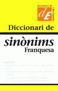 DICCIONARI DE SINONIMS FRANQUESA