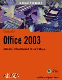 OFFICE 2003 - MANUAL AVANZADO