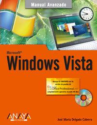 Windows Vista (+cd) - Jose Maria Delgado Cabrera