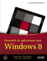 Desarrollo De Aplicaciones Para Windows 8 - Istvan  Novak  /  [ET AL. ]