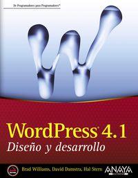 Wordpress 4.1. - Diseño Y Desarrollo - Brad Williams / David Damstra / Hal Stern