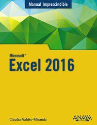 Excel 2016 - Claudia Valdes-miranda