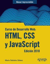 CURSO DE DESARROLLO WEB: HTML, CSS Y JAVASCRIPT - EDICION 2018