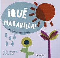 ¡que maravilla! - imagina, crea... ¡siente! - Raul Bermejo / Nacho Uve (il. )