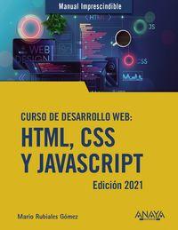 CURSO DE DESARROLLO WEB - HTML, CSS Y JAVASCRIPT- EDICION 2021