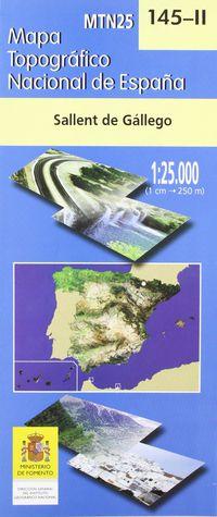 MAPA SALLENT DE GALLEGO 145-II 1: 25000