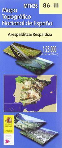 MAPA ARESPALDITZA / RESPALDIZA 86-III 1: 25000