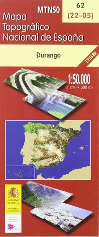 MAPA DURANGO 62 1: 50000