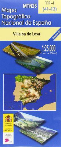 MAPA VILLALBA DE LOSA 111-I 1: 25000